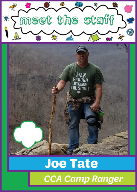 22002cfc Meet Joe Tate – camp ranger at Girl Scouts – Diamonds Camp Crossed Arrows!  Joe has been an employee of the council for more than 10 years and he works  daily ...